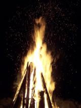 Необычные фото огня. Костер в Новогоднюю ночь 2012
