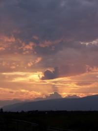закат на Алтае,Нижний Уймон