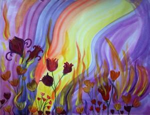 Цветы и огонь