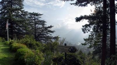 Вид на долину Кулу с лестницы
